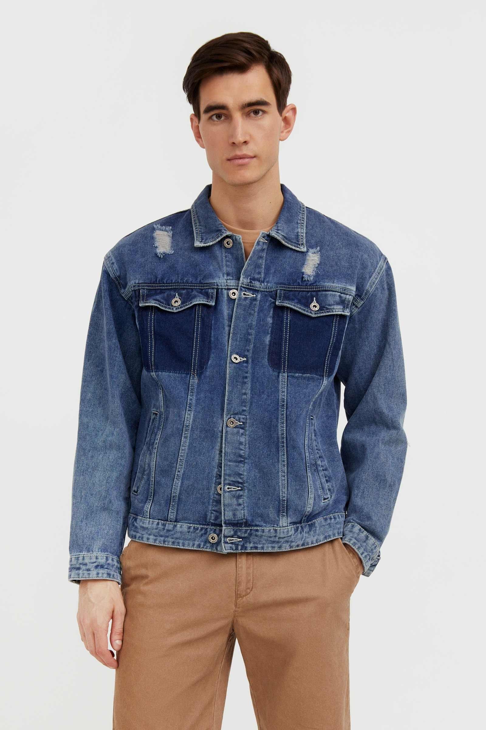 finn flare -  Jeansjacke, mit klassischem Kragen