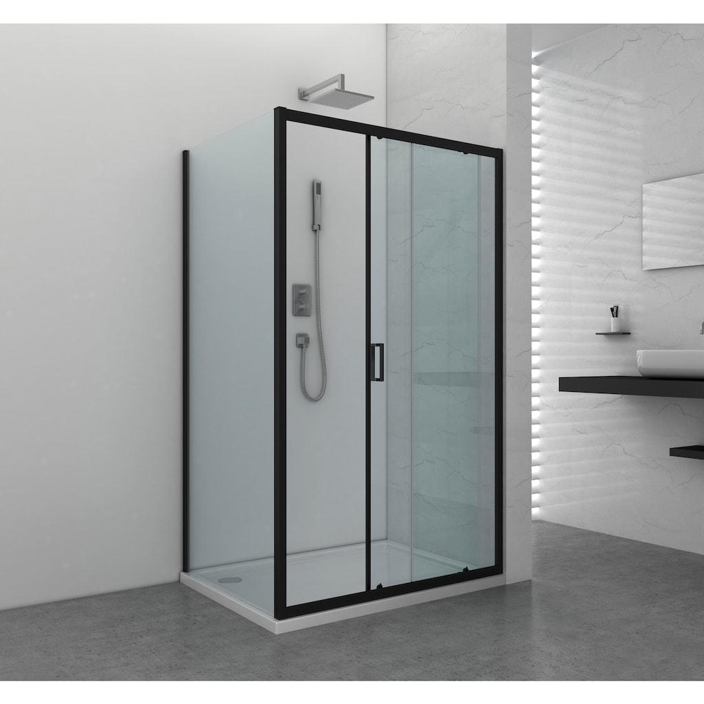 Sanotechnik Schiebetür »ELITE«, mit Alu-Profilen in schwarz matt