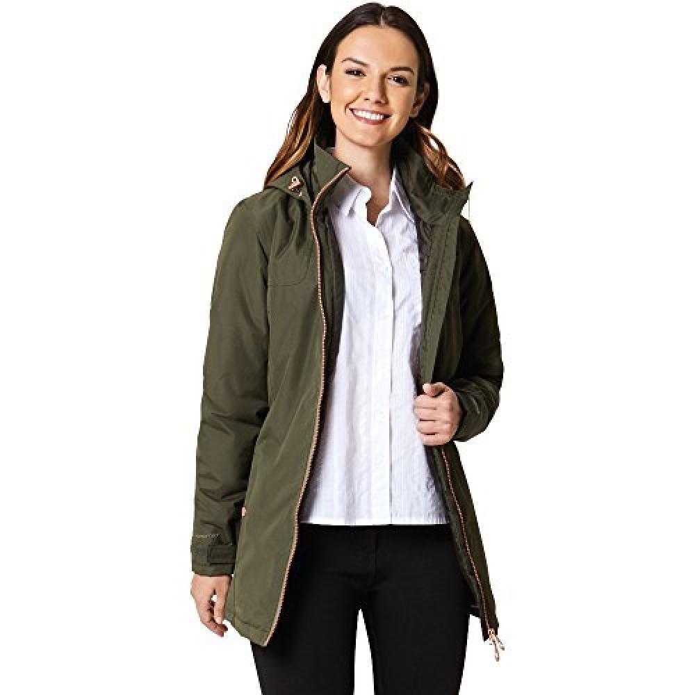 Regatta Outdoorjacke Damen Jacke Mylee mit Kapuze längere Länge | Sportbekleidung > Sportjacken > Outdoorjacken | Grün | Polyester | Regatta