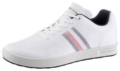TOMMY HILFIGER Sneaker »SUSTAINABLE KNIT CUPSOLE STRIPES«, mit seitlichen Streifen kaufen