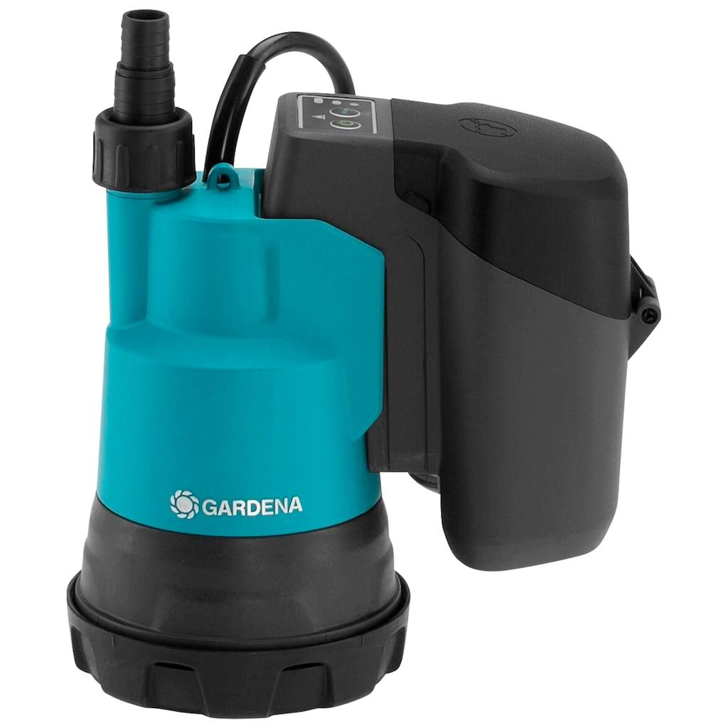 GARDENA Klarwasserpumpe »2000/2 18V P4A Ready-To-Use-Set«, mit Akku und Ladegerät