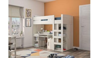 Gami Etagenbett »Montana«, Mit integriertem Schreibtisch und Kleiderschrank kaufen