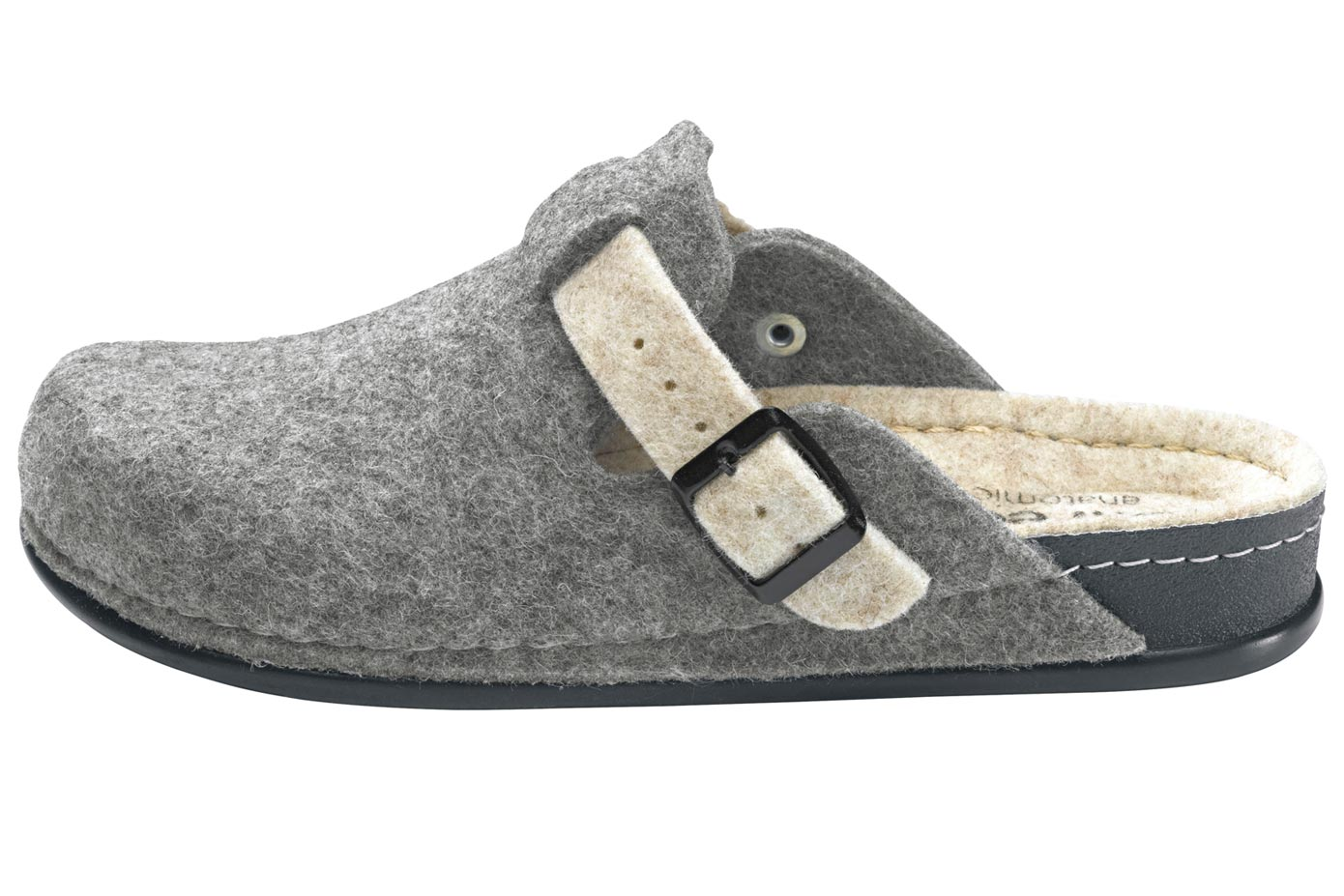 heine home Hausschuh grau Damen Hausschuhe Schuhe Klassische Mode