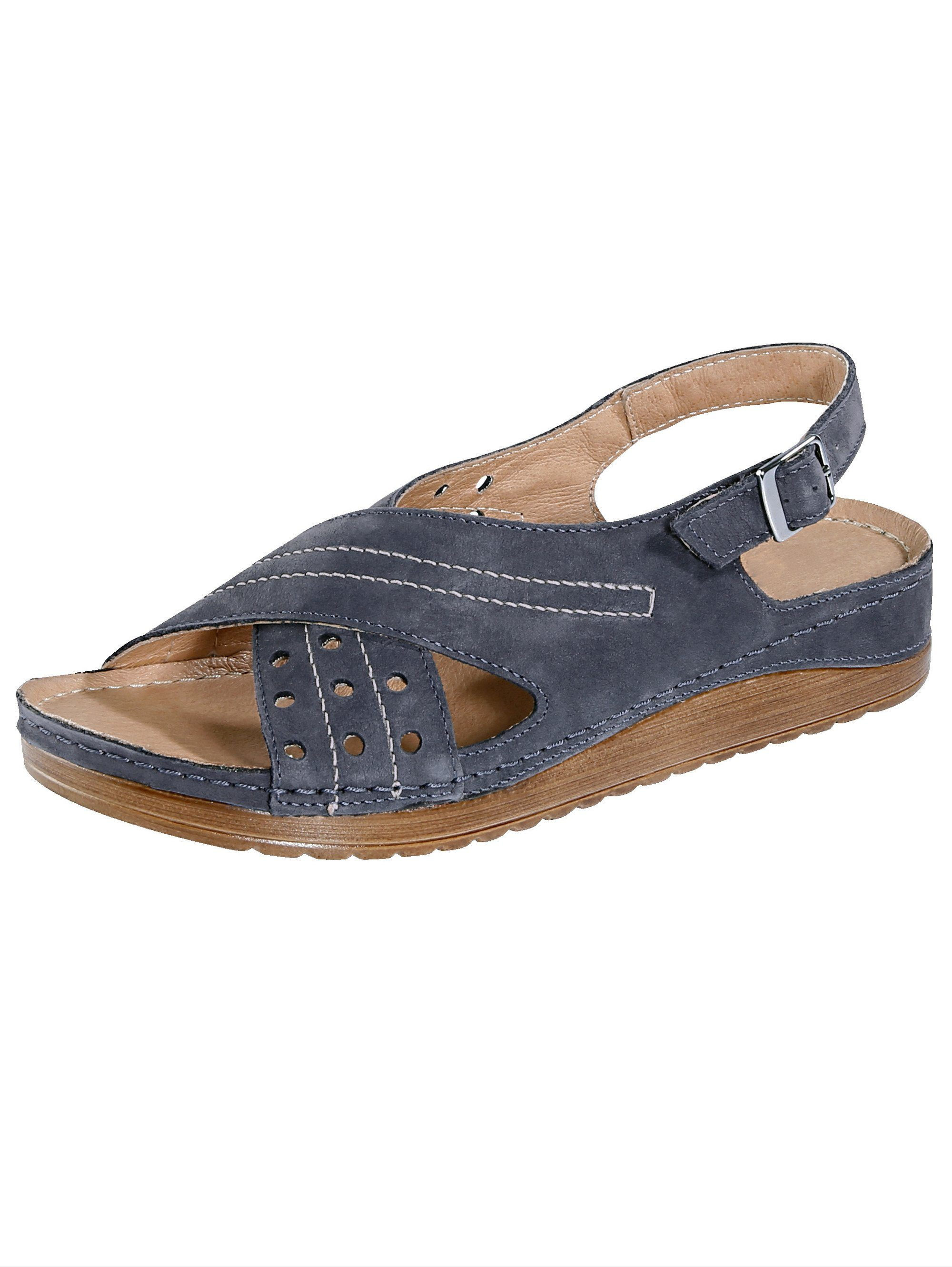 Naturläufer Sandale blau Damen Sandaletten Sandalen Sandalen/