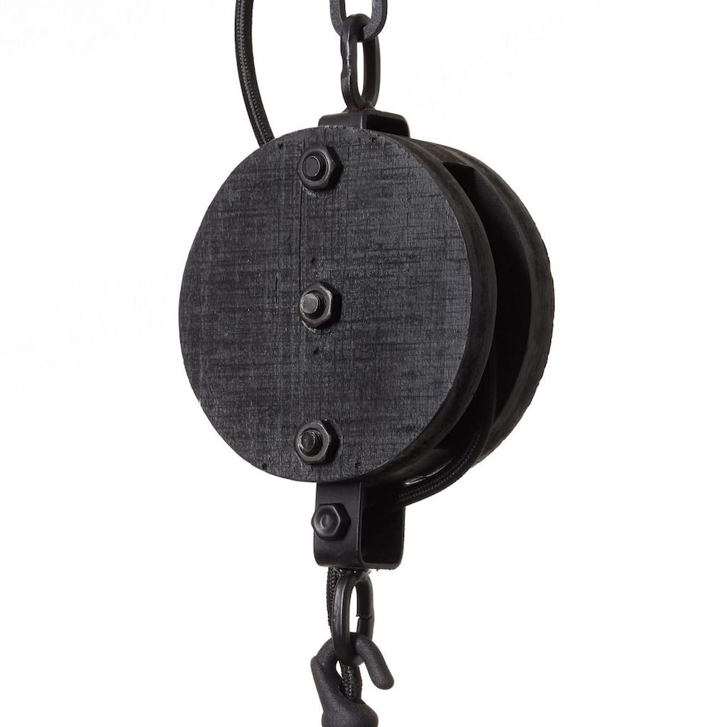 Brilliant Leuchten Matrix Wood Pendelleuchte 34cm antik holz/schwarz korund