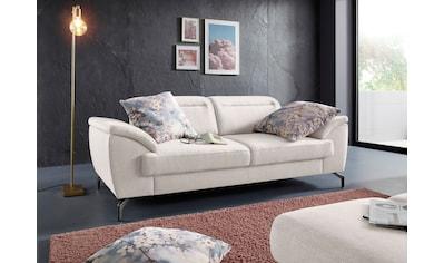 sit&more 2,5-Sitzer, 15 cm Fußhöhe, inklusive Sitztiefenverstellung, wahlweise... kaufen