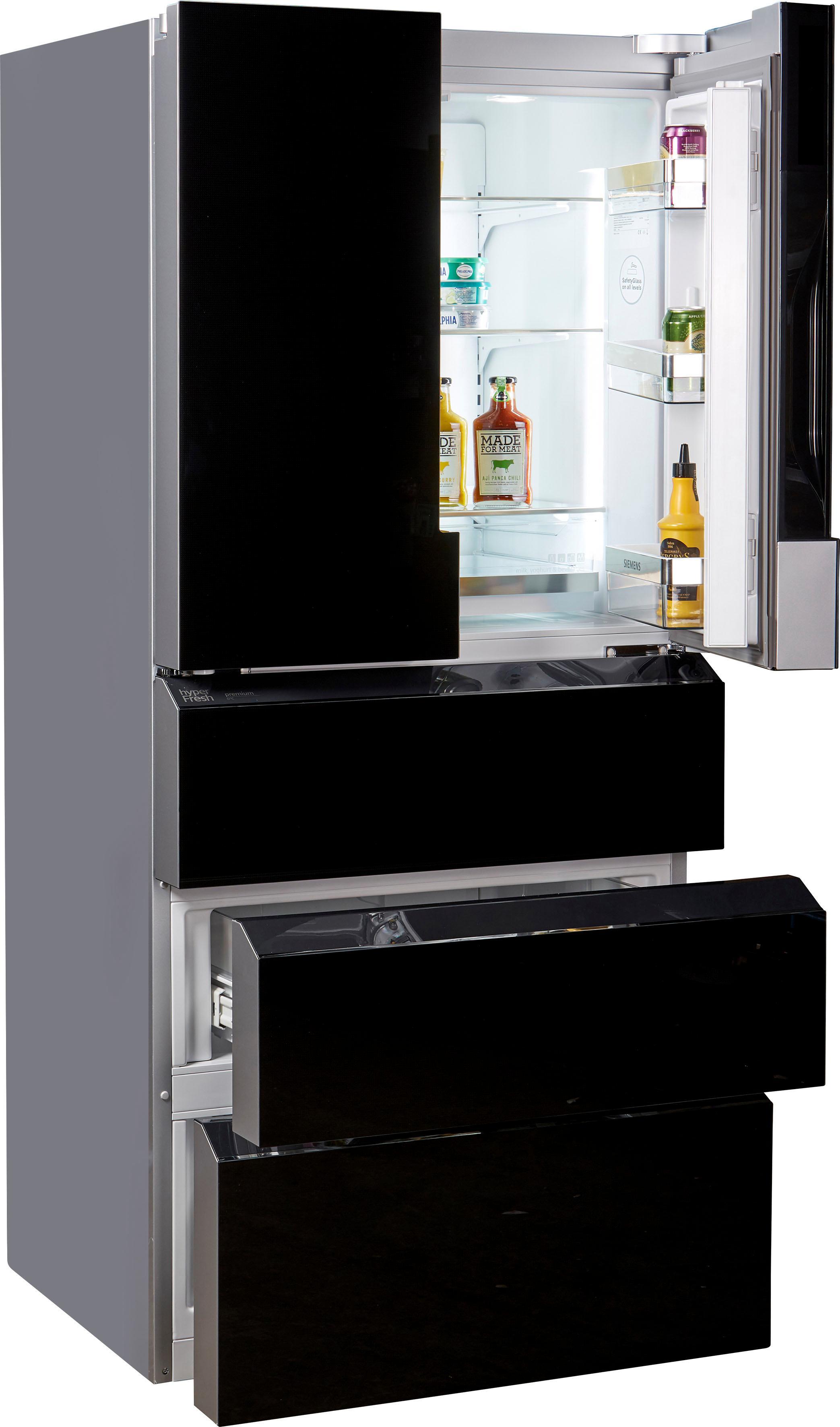 SIEMENS French Door Kühlschrank iQ700 183 cm hoch 81 cm breit | Küche und Esszimmer > Küchenelektrogeräte > Kühlschränke | Schwarz | Siemens