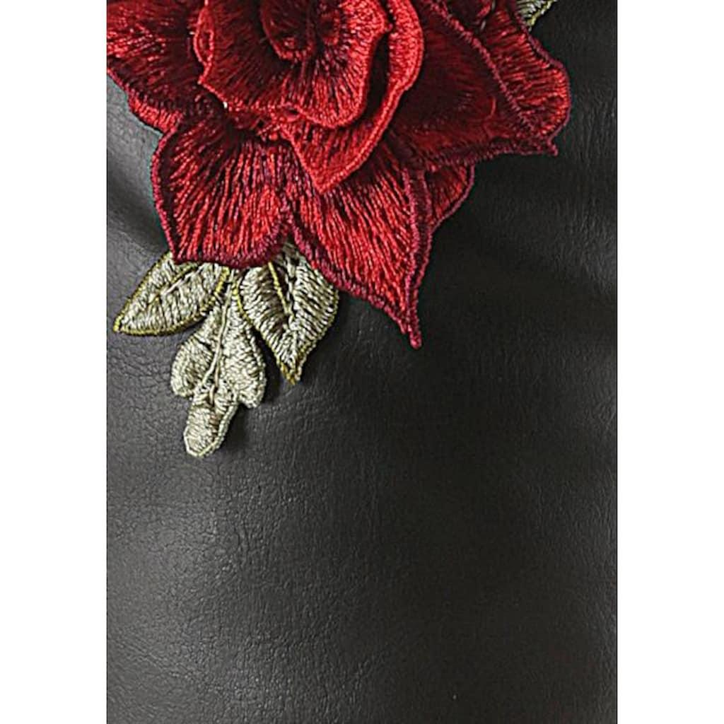 CITY WALK Stiefel, mit auffälliger Blüte am Schaft