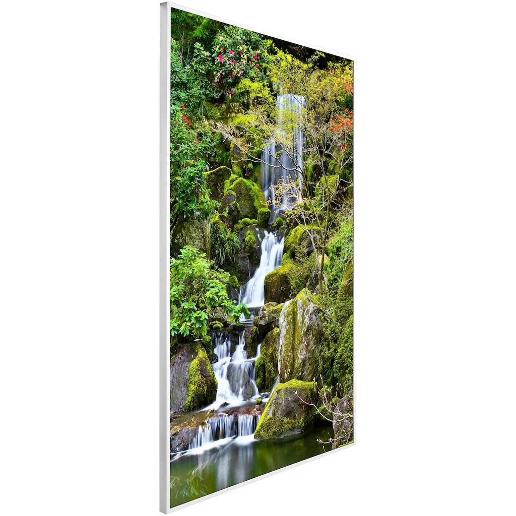 Papermoon Infrarotheizung »Garten Teich, EcoHeat«, Aluminium, 600 W, 100x60 cm, mit Rahmen