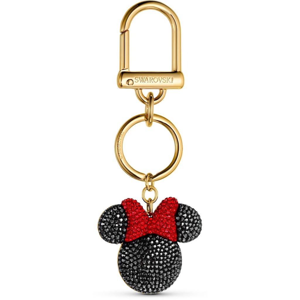 Swarovski Schlüsselanhänger »Minnie Handtaschen-Charm, schwarz, vergoldet, 5572567«, mit Swarovski® Kristallen
