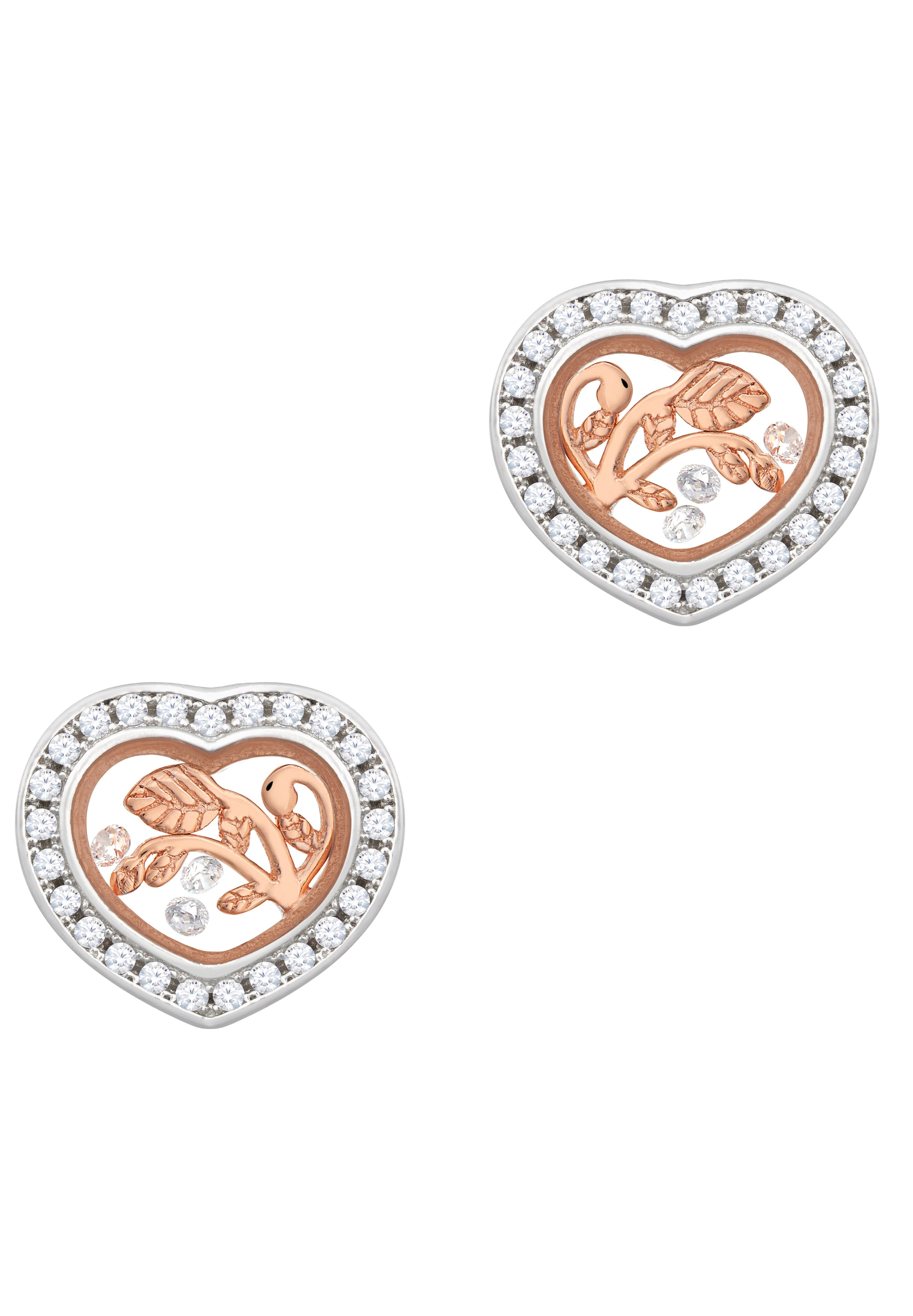astra -  Paar Ohrhänger  NEW BEGINNING Stud Earrings Frame with Stone