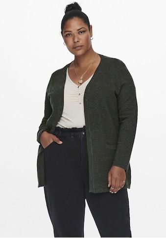 ONLY CARMAKOMA Cardigan »CARIRENA«, in verschlussloser Form kaufen