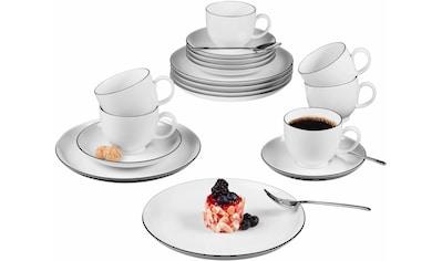 """Seltmann Weiden Kaffeeservice """"Lido Black Line"""" (18 - tlg.), Porzellan kaufen"""