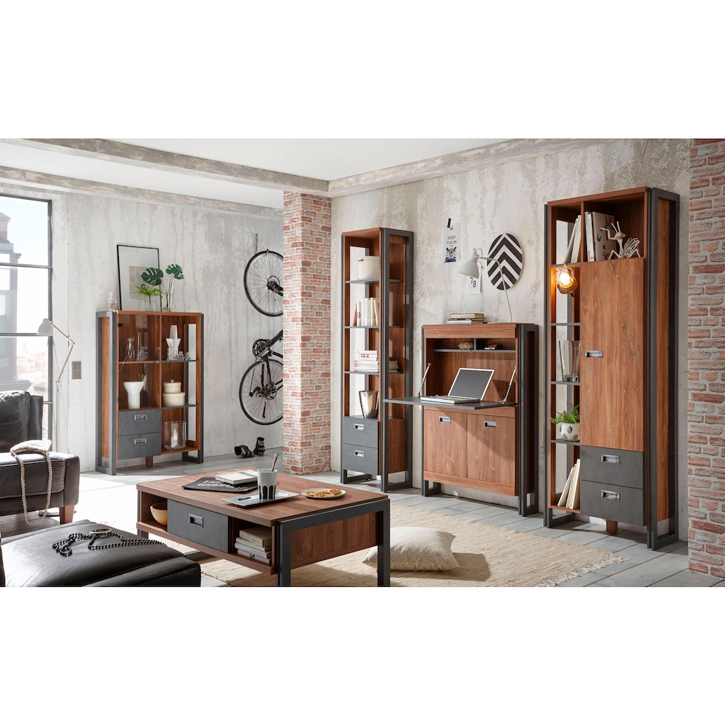 Home affaire Highboard »Detroit«, mit 2 Schubladen, Höhe 140 cm, im angesagten Industrial Look