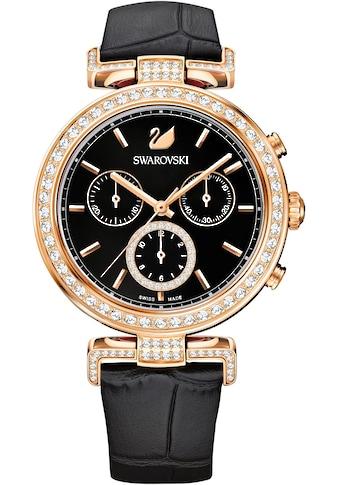 Swarovski Chronograph »Era Journey Uhr, Lederarmband, schwarz, roséfarben, 5295320« kaufen