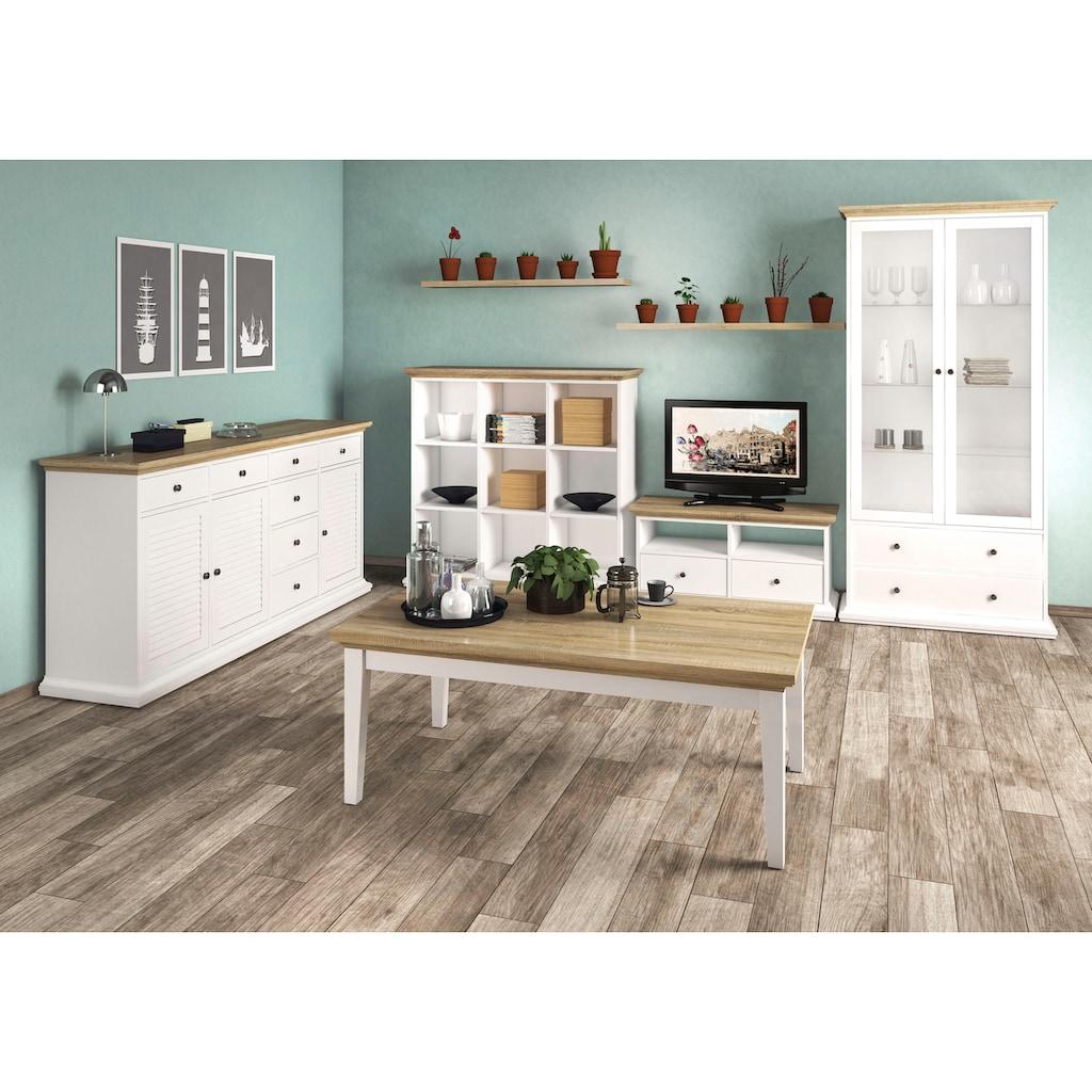 Home affaire Regal, mit einer schönen Deckplatte in eiche/struktur, erstrahlt in schöner Holzoptik