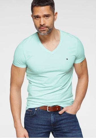 TOMMY HILFIGER T-Shirt »STRETCH SLIM FIT VNECK TEE« kaufen