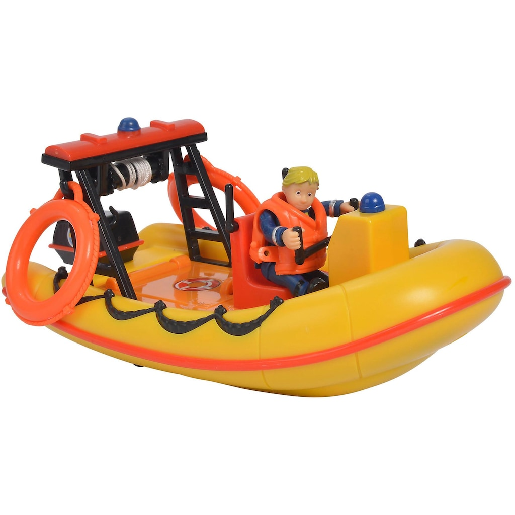 SIMBA Spielzeug-Boot »Feuerwehrmann Sam, Neptun mit Figur«, schwimmfähig