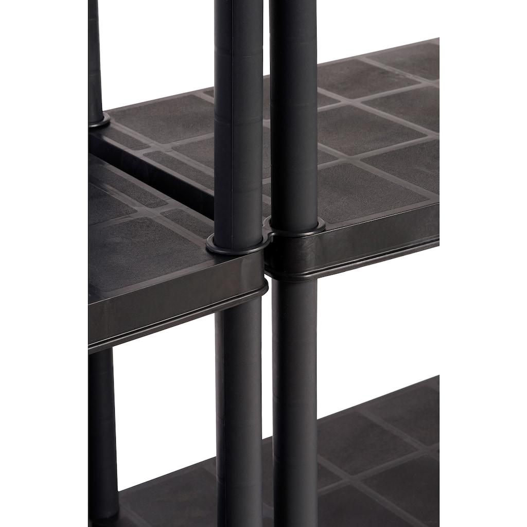 "Kreher Steckregal »Haushaltsregal 12""«, B/T/H: 61x30,5x130 cm, mit 4 geschlossenen Böden"
