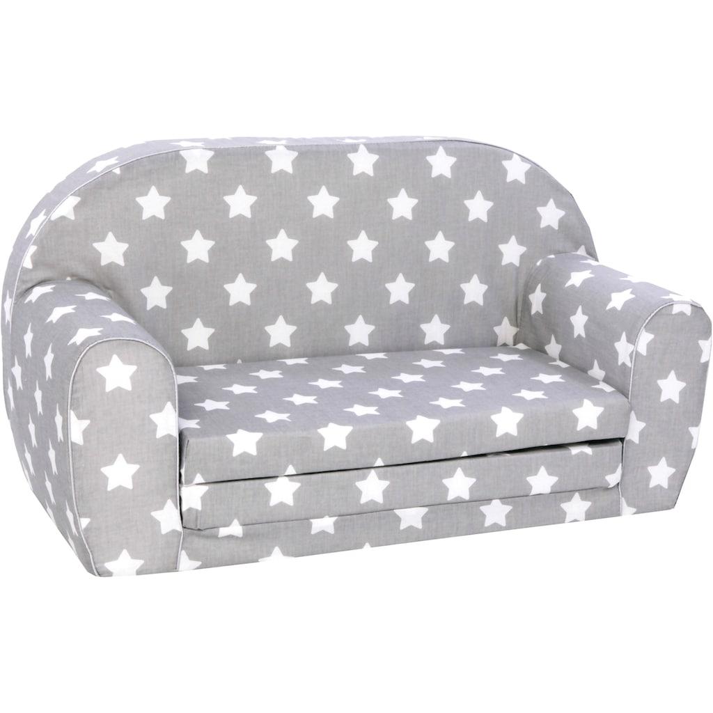 Knorrtoys® Sofa »Grey White Stars«, für Kinder; Made in Europe