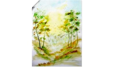Artland Wandbild »Am Waldrand«, Bäume, (1 St.), in vielen Größen & Produktarten... kaufen