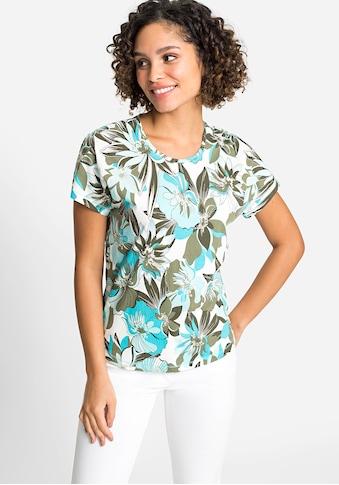 Olsen Rundhalsshirt, mit exotischem Blumenprint kaufen