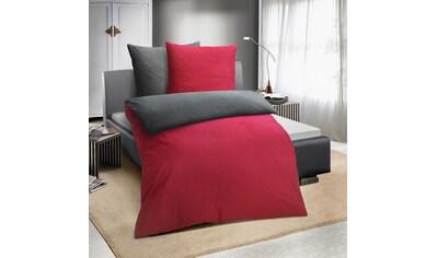 TRAUMSCHLAF Bettwäsche »Melangebiber«, moderner Wende-Look für die kalte Jahreszeit kaufen