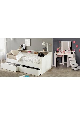 Parisot Jugendzimmer-Set »Sleep«, (Set, 2 St.), Stauraumbett und Schminktisch kaufen