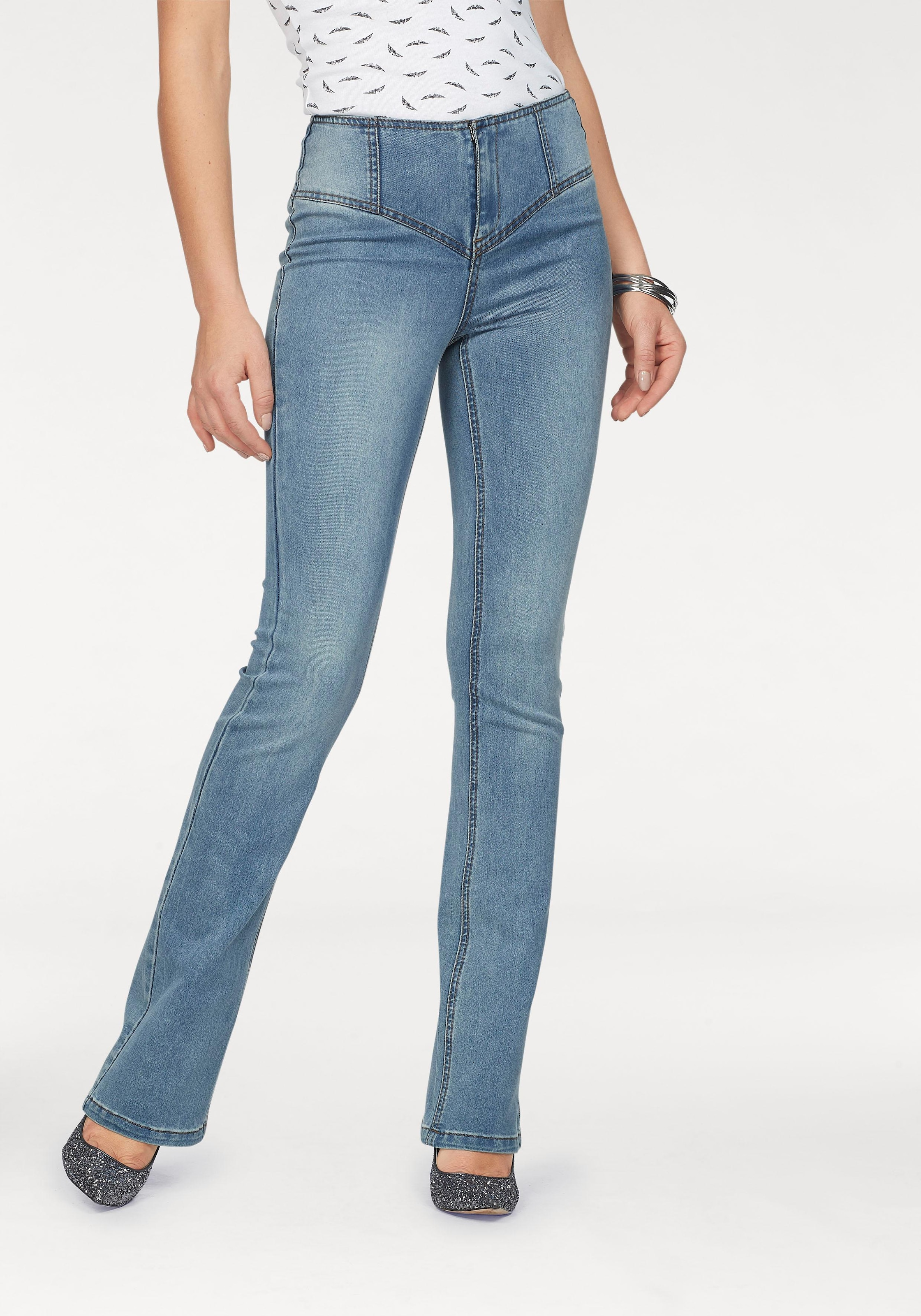 Arizona Bootcut Jeans »Shaping« auf