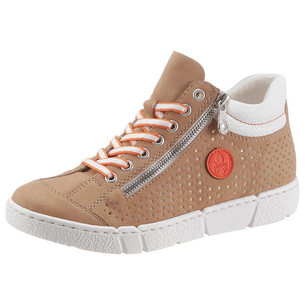 Rieker Sneaker, mit seitlicher Perforation
