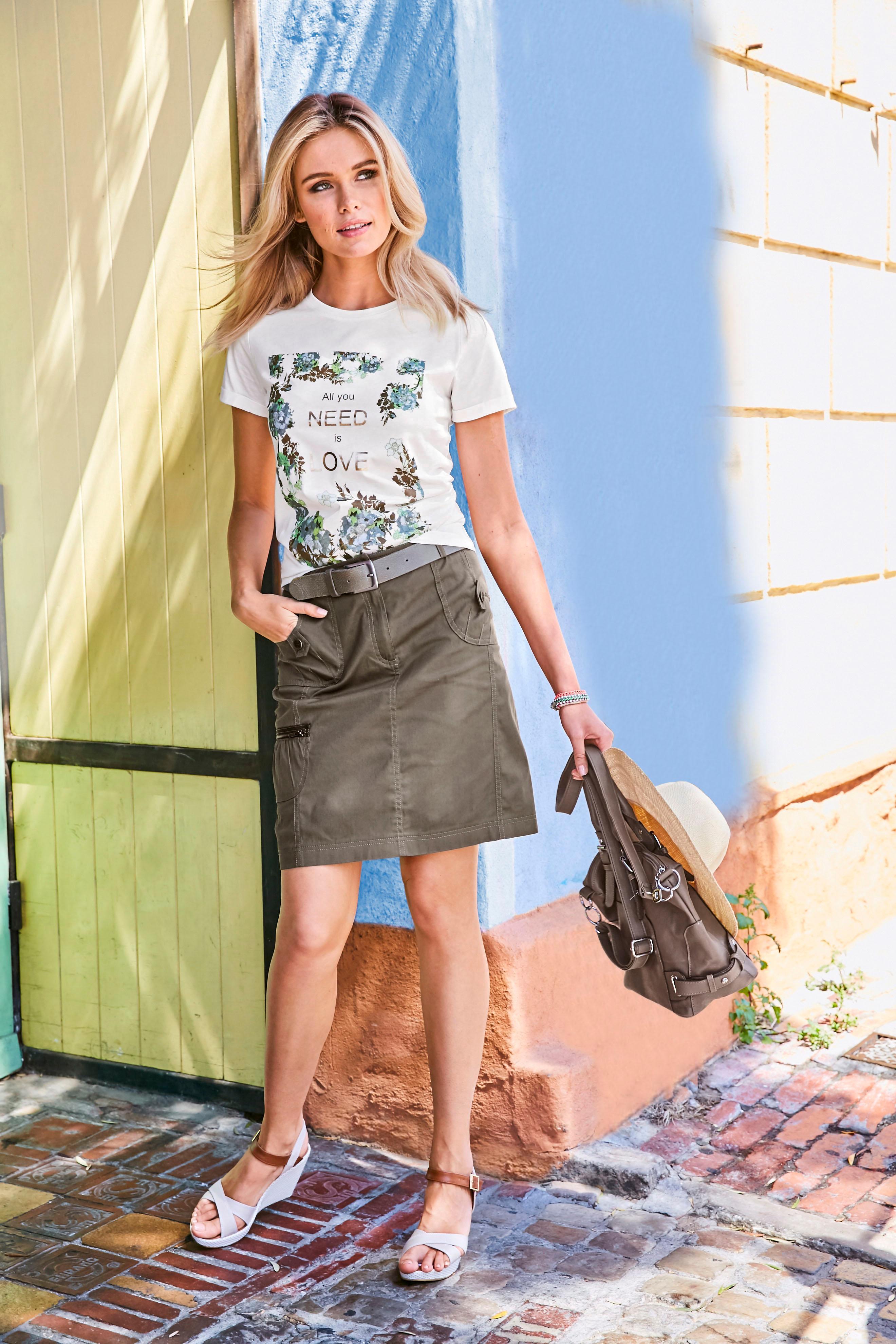 Aniston CASUAL Cargorock | Bekleidung > Röcke > Cargoröcke | Aniston Casual