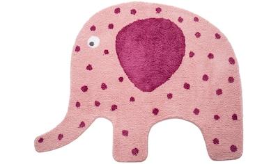 Lüttenhütt Kinderteppich »Elefant«, Motivform, 15 mm Höhe, Kinderzimmer kaufen