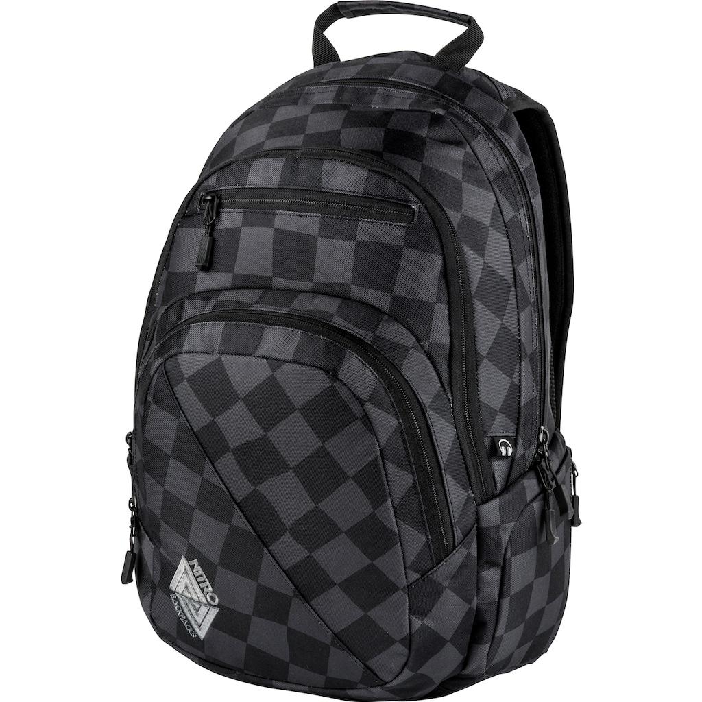 NITRO Schulrucksack »Stash 29, Black Checker«