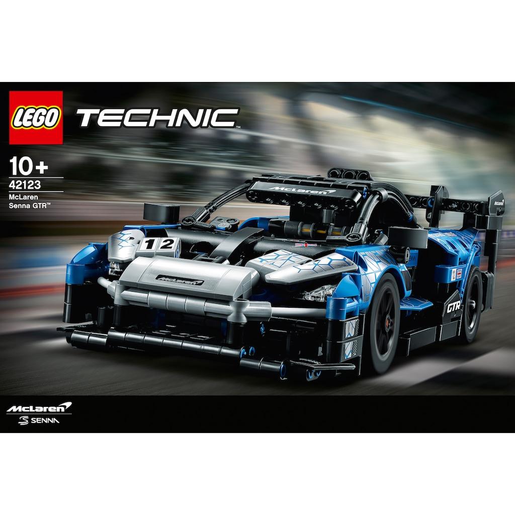 LEGO® Konstruktionsspielsteine »McLaren Senna GTR™ (42123), LEGO® Technic«, (830 St.), Made in Europe