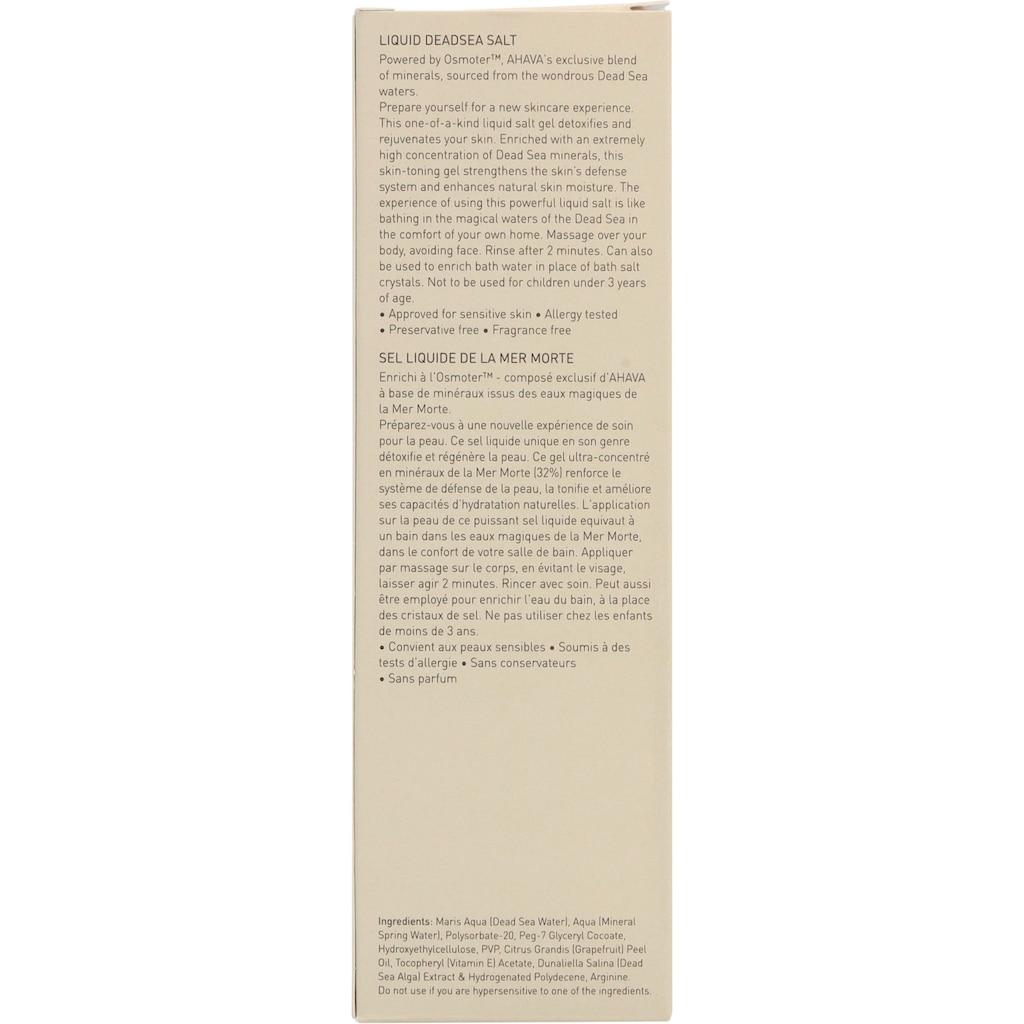 AHAVA Körpergel »Deadsea Salt Liquid Dead Sea Salt«