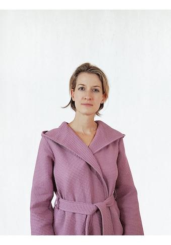 freundin Home Collection Damenbademantel »Waffelpiqué«, mit Kapuze kaufen