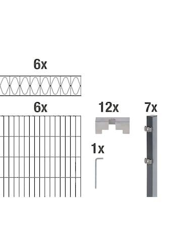 GAH Alberts Doppelstabmattenzaun »Eleganz«, anthrazit, 160 cm hoch, 6 Matten für 12 m,... kaufen
