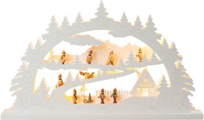 HGD Holz-Glas-Design XXL-Lichterbogen Winterberg mit LED-Beleuchtung kaufen