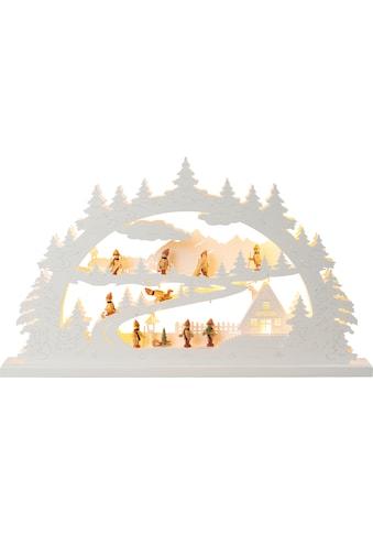 HGD Holz - Glas - Design XXL - Lichterbogen Winterberg mit LED - Beleuchtung kaufen