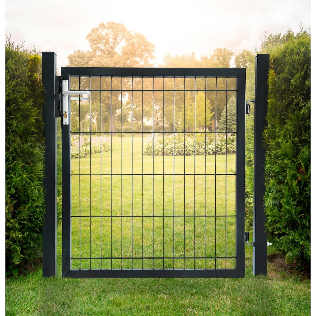 HOME DELUXE Gartentor, BxH: 100x80 cm, für Doppelstabmatten