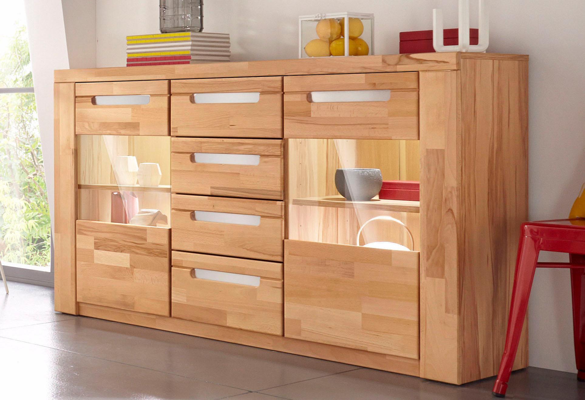 sideboard kolding breite 140 cm mit 2 glast ren kaufen. Black Bedroom Furniture Sets. Home Design Ideas