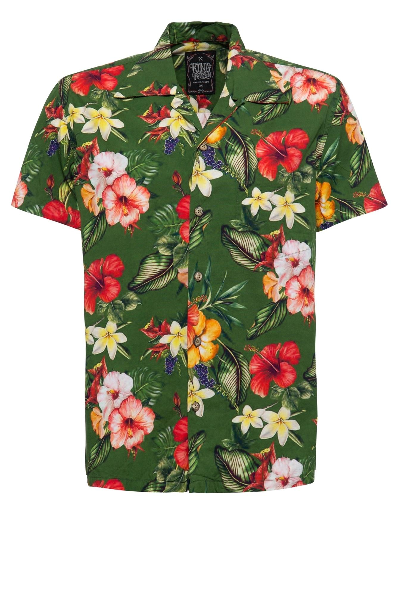 KingKerosin Hawaiihemd Tropic   Bekleidung > Hemden > Hawaiihemden   Kingkerosin