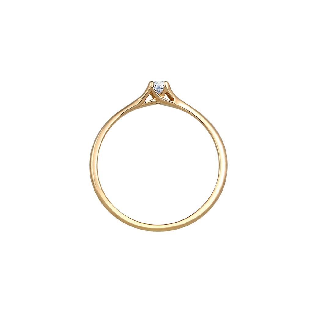 Diamore Verlobungsring »Verlobung Vintage Diamant (0.06 ct.) 585 Gelbgold«