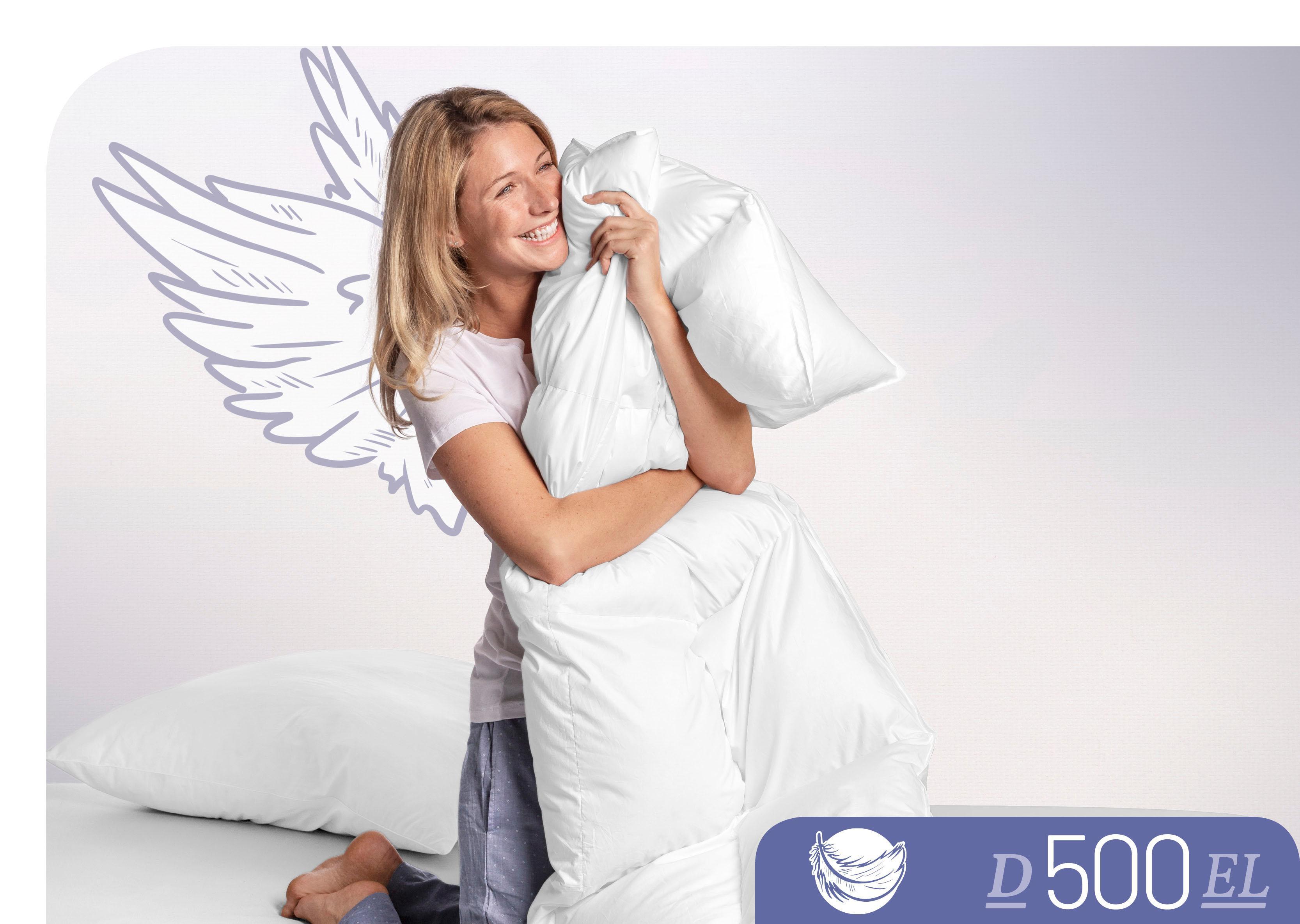 Daunenbettdecke D500 Schlafstil extraleicht Füllung: 100% Daunen Bezug: 100% Baumwolle