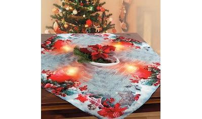 Delindo Lifestyle Mitteldecke »Kerzenschein«, gedrucktes Design, blickdichter Stoff, mit LED-Beleuchtung kaufen