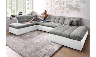 DOMO collection Wohnlandschaft »Moric Top«, XXL, wahlweise mit Bettfunktion und... kaufen