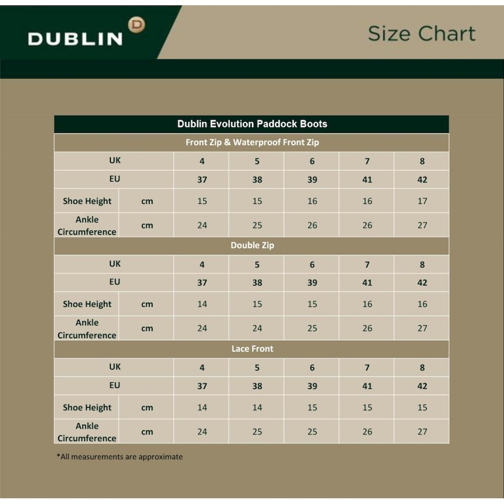 Dublin Reitstiefel »Evolution Unisex Leider-etten mit Schnürung«