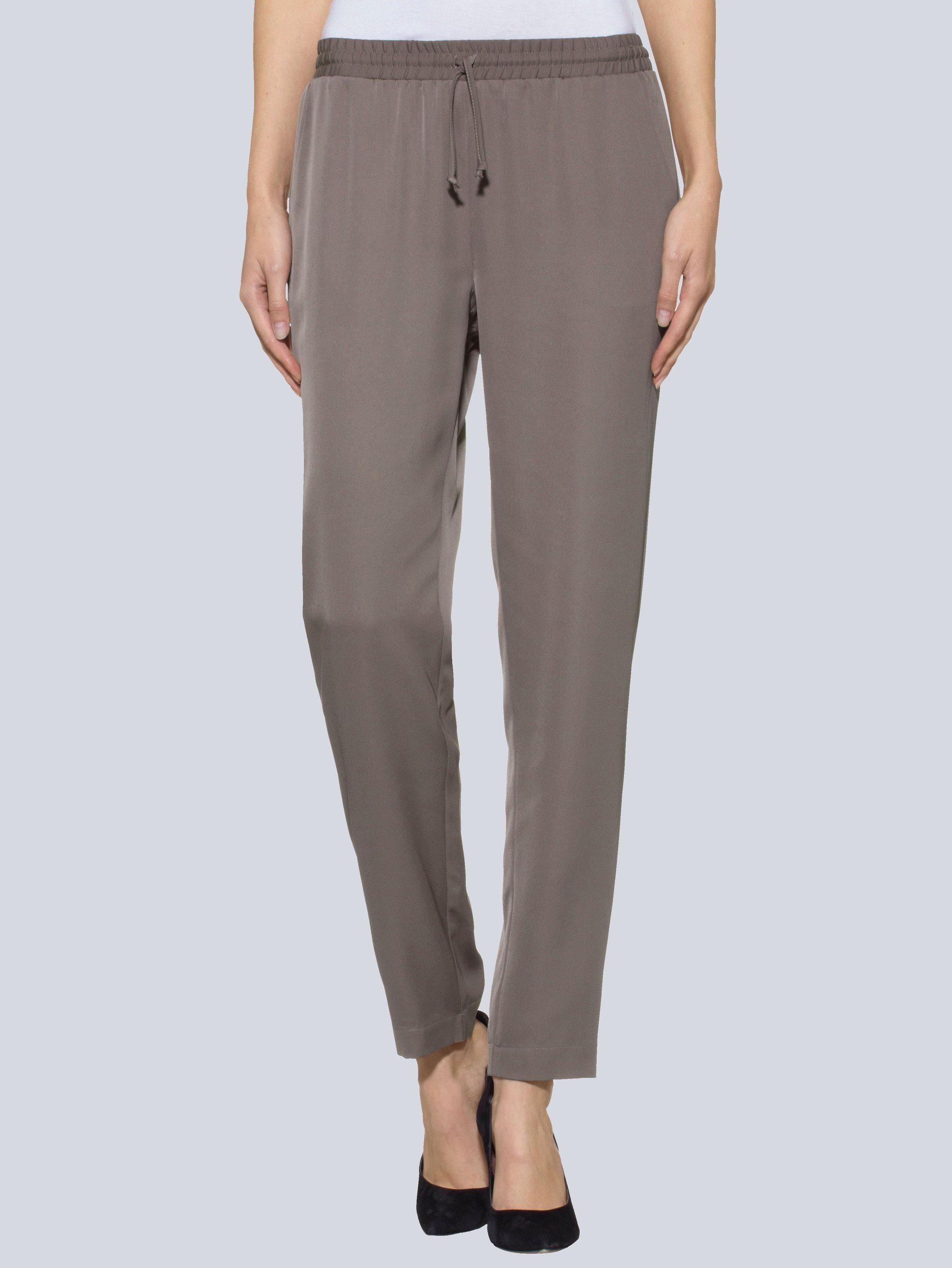 Alba Moda Joggpants aus weichfallendem Materialmix | Bekleidung > Hosen > Gerade Hosen | Polyester | ALBA MODA