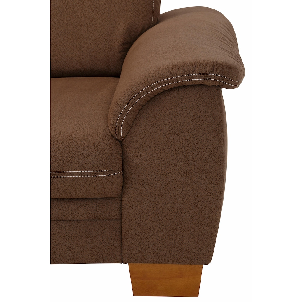 Home affaire 3,5-Sitzer »Husum«, mit Sitztiefenverstellung, Kontrastnaht und Federkern
