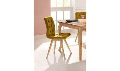 andas Esszimmerstuhl »Rania«, Polsterstuhl im 2er-, 4er oder 6er Set, mit Massivholzbeinen in Eiche weiss kaufen